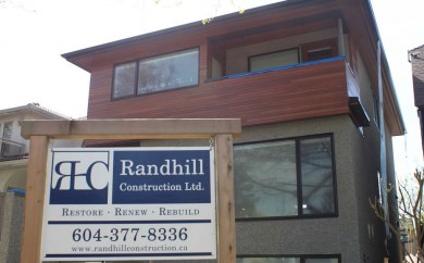New home builders in Vancouver BC - Randhill Construction company, building contractors vancouver